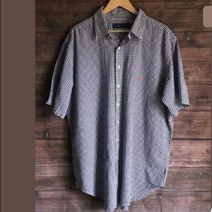 Ralph Lauren Gingham Button Down Shirt XLT